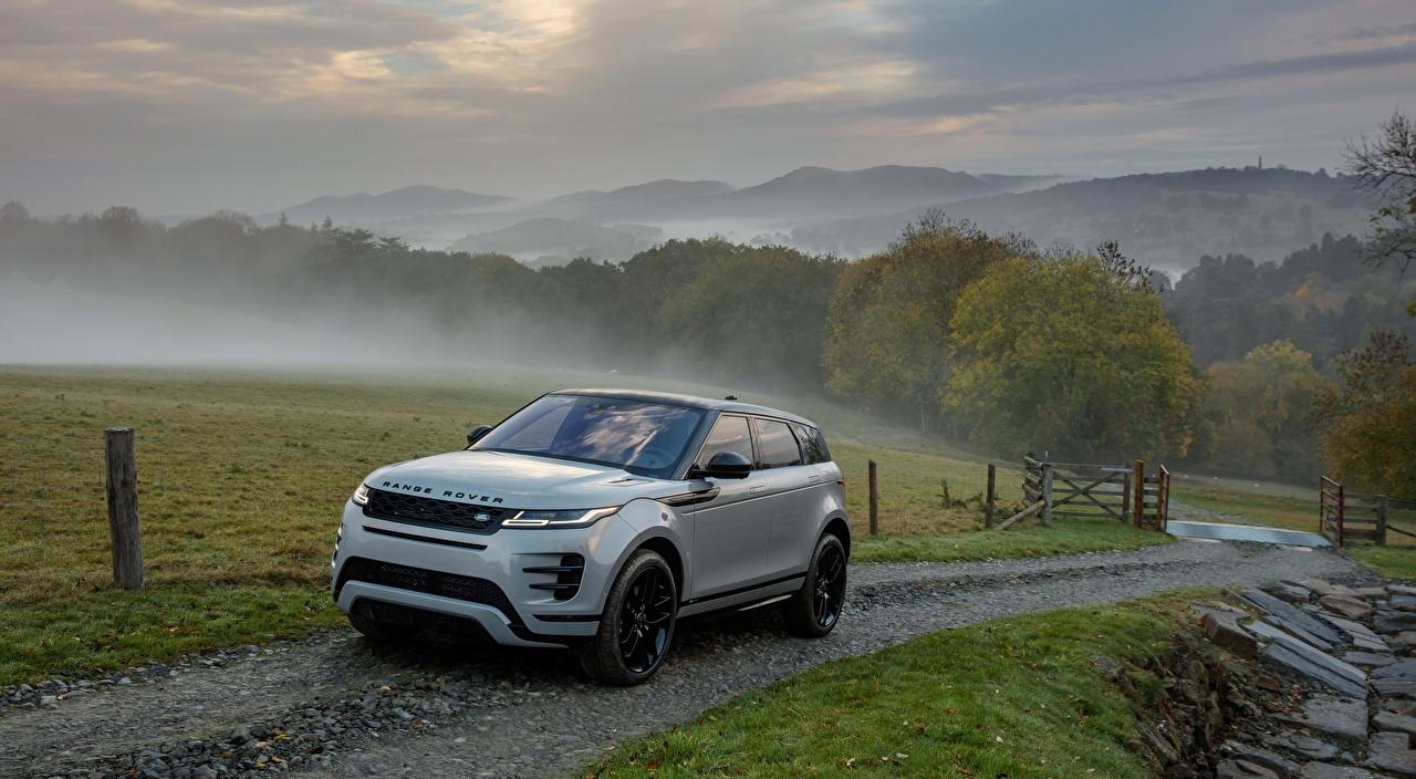 Pictures Land Rover Sport utility vehicle Evoque, P300 HSE R-Dynamic, Black Pack, US-spec, 2019 Fog Roads Cars Metallic Range Rover SUV auto automobile