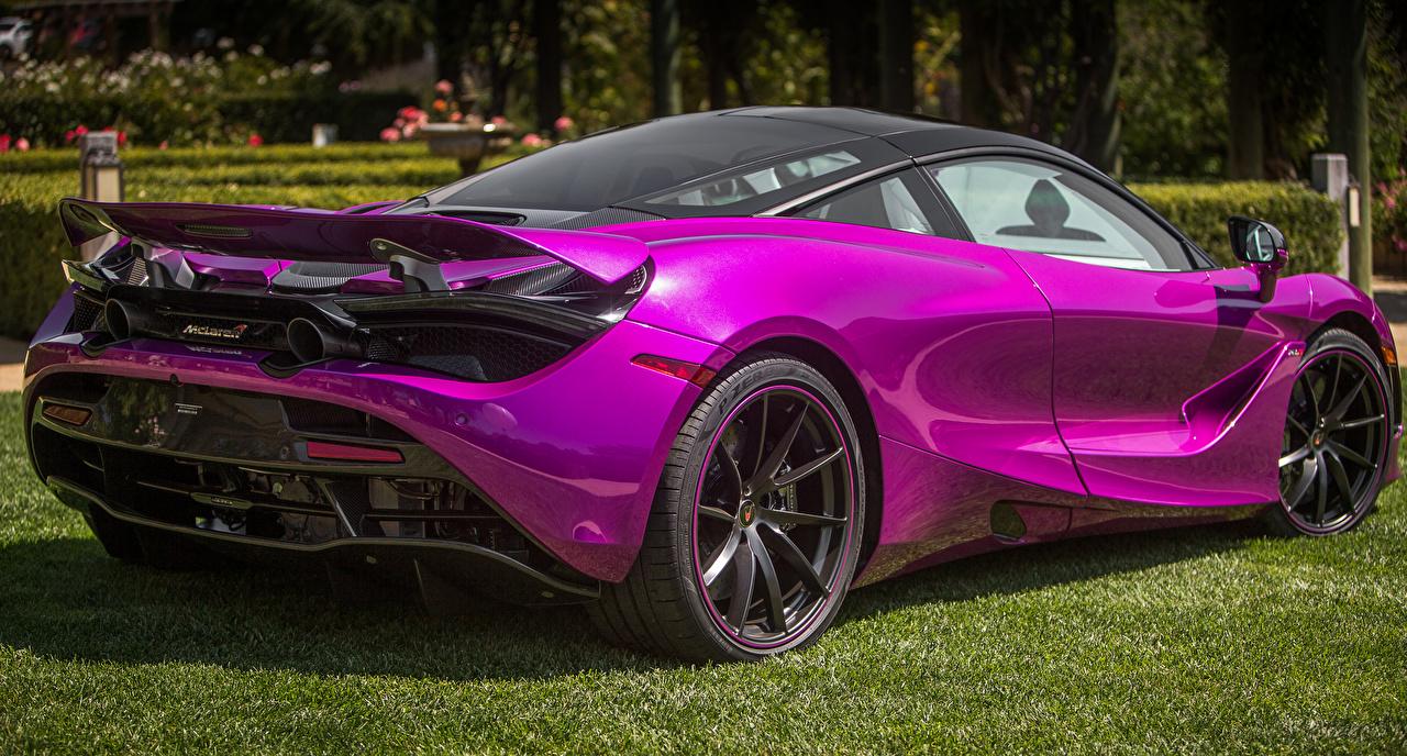 Picture McLaren 2017 MSO 720S Coupe Fux Fuchsia Violet Metallic Back view automobile Cars auto