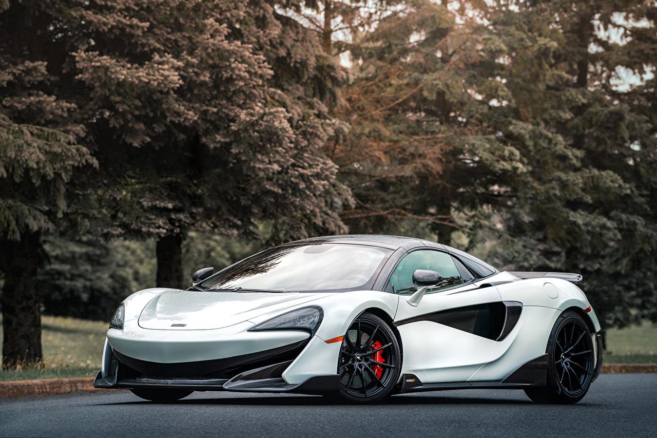 Images McLaren 2020 600LT Spider White auto Cars automobile