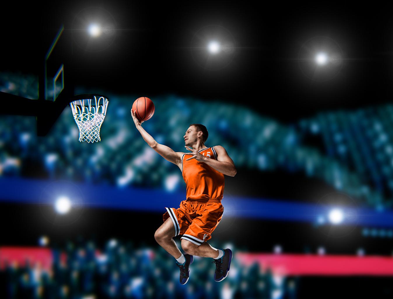 Fotos Mann Sport Basketball Sprung Ball Uniform