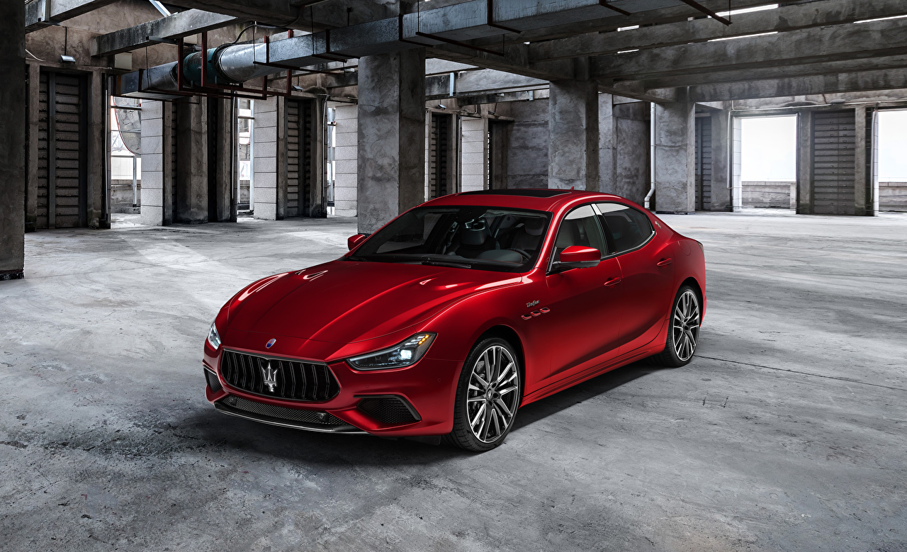 Pictures Maserati Ghibli Trofeo, M157, 2020 Red Cars Metallic auto automobile