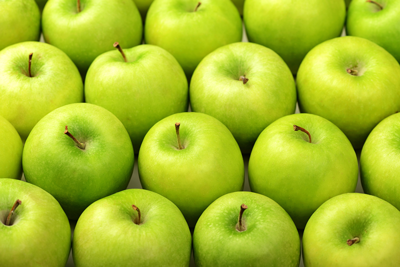 Pictures Texture Green Apples Food