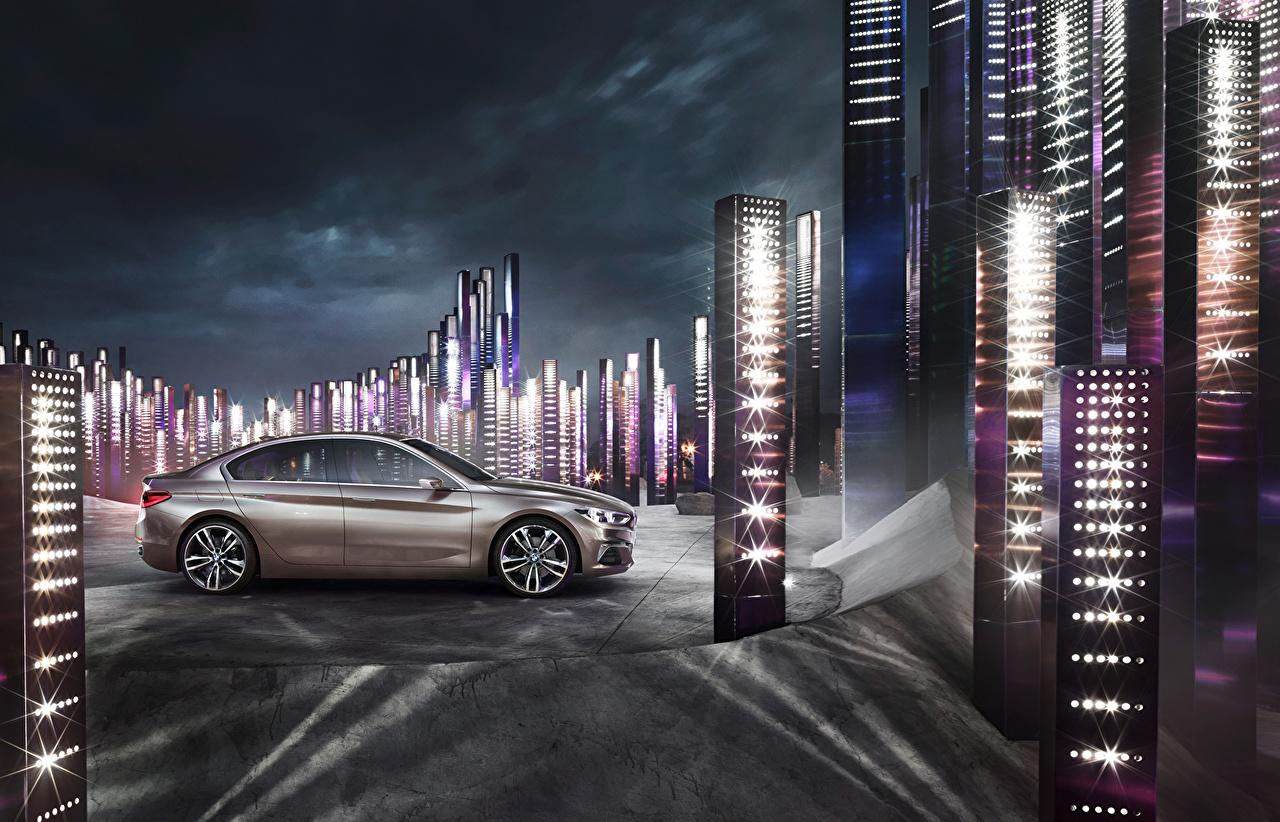 Desktop Wallpapers BMW 2015 Concept Compact Sedan Side auto Cars automobile