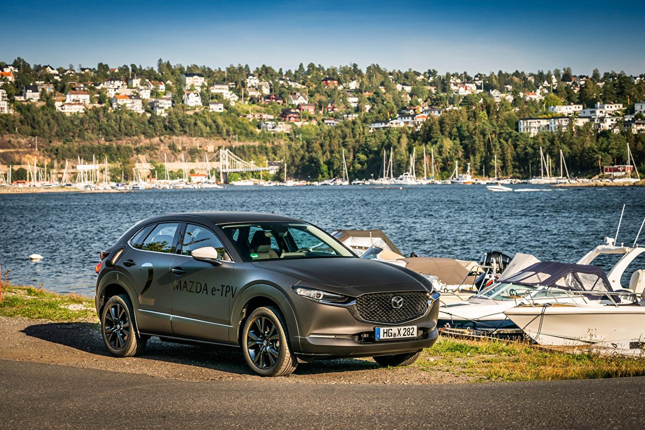 Picture Mazda 2019 e-TPV Prototype Grey Cars gray auto automobile