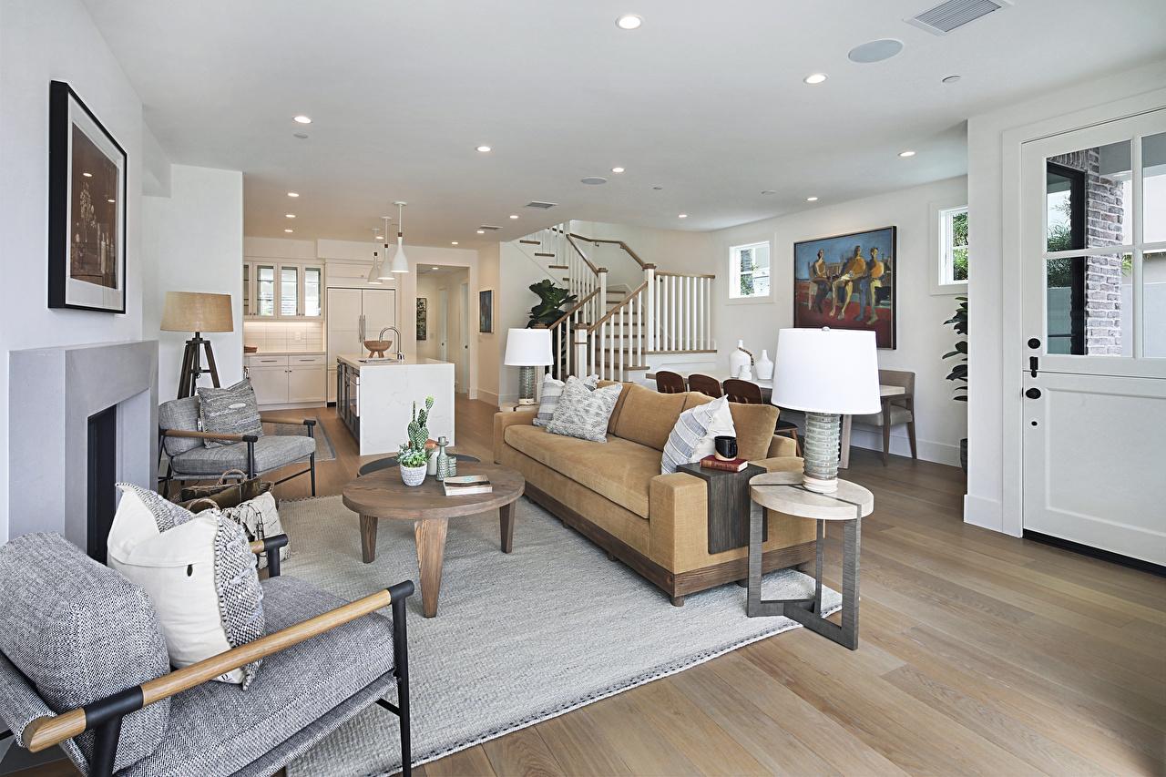 Bilder von Wohnzimmer Innenarchitektur Sofa Lampe Design Couch