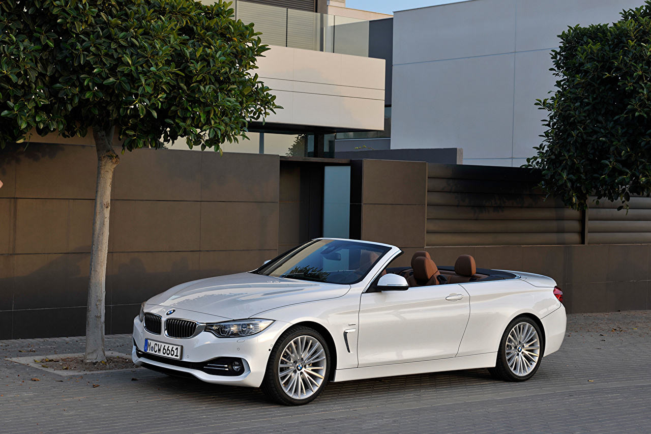 Wallpaper BMW Tuning 2013 428i F33 convertible Luxury Line Convertible White automobile Cabriolet Cars auto