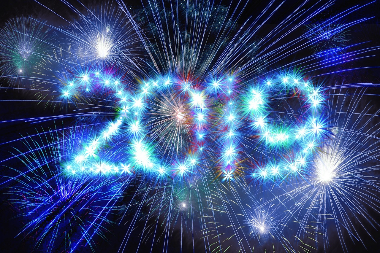 Images 2019 New year Fireworks Christmas