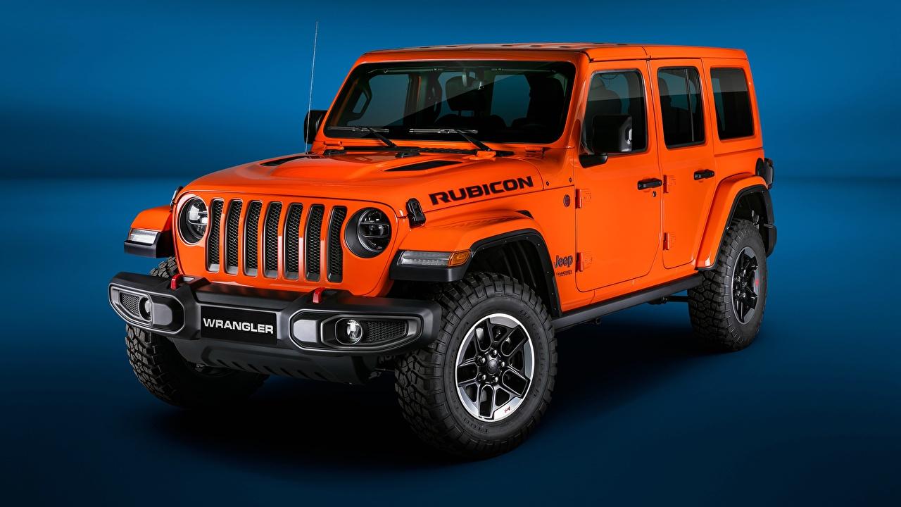 Photo 2018 Wrangler Jeep Unlimited Rubicon Orange automobile auto Cars