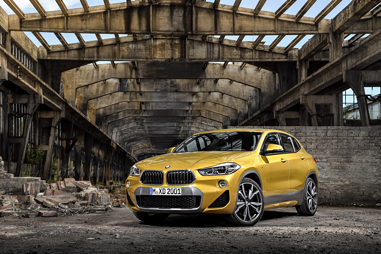 Picture BMW 2018 X2 xDrive20d M Sport X Worldwide Yellow Cars Metallic auto automobile