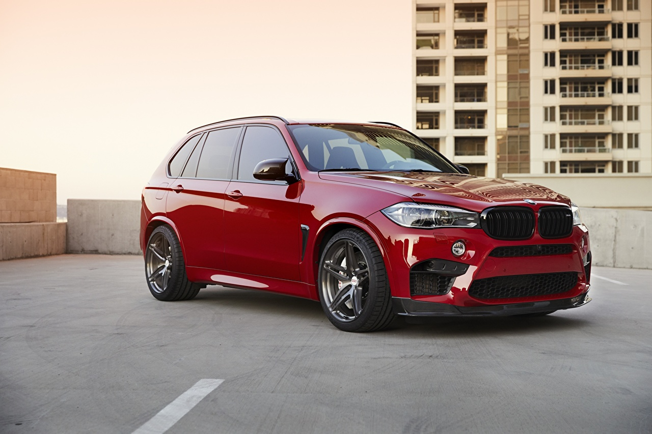 Desktop Wallpapers BMW Sight X5M F85 Red automobile Cars auto