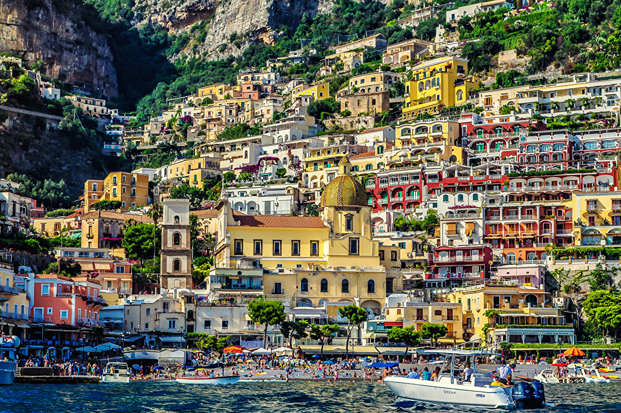 Picture Cities Italy Amalfi Building Houses