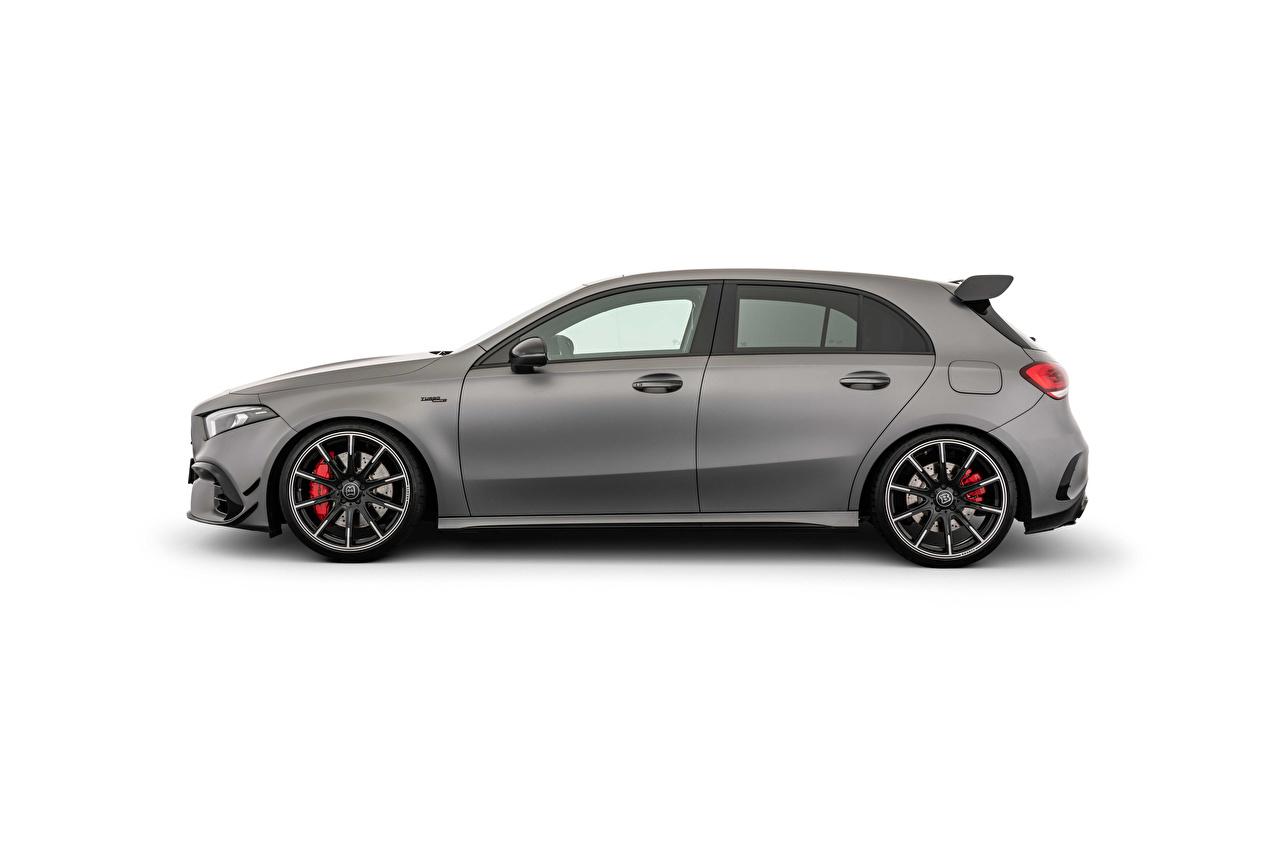 ,巴博斯,B45 (W177), 2021,灰色,金屬漆,側視圖,白色背景,汽车,