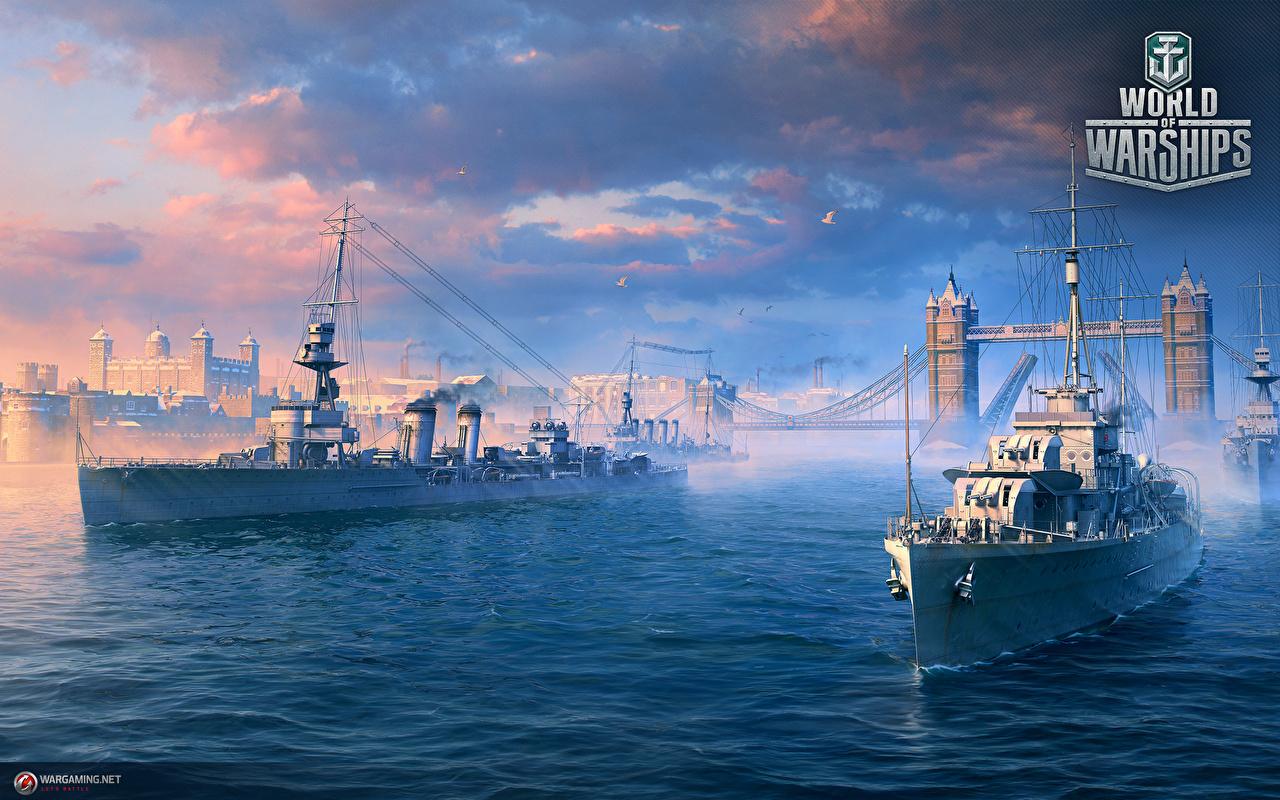 Fotos World Of Warship britisches Cruisers Spiele Schiffe Heer Britisch britische britischer