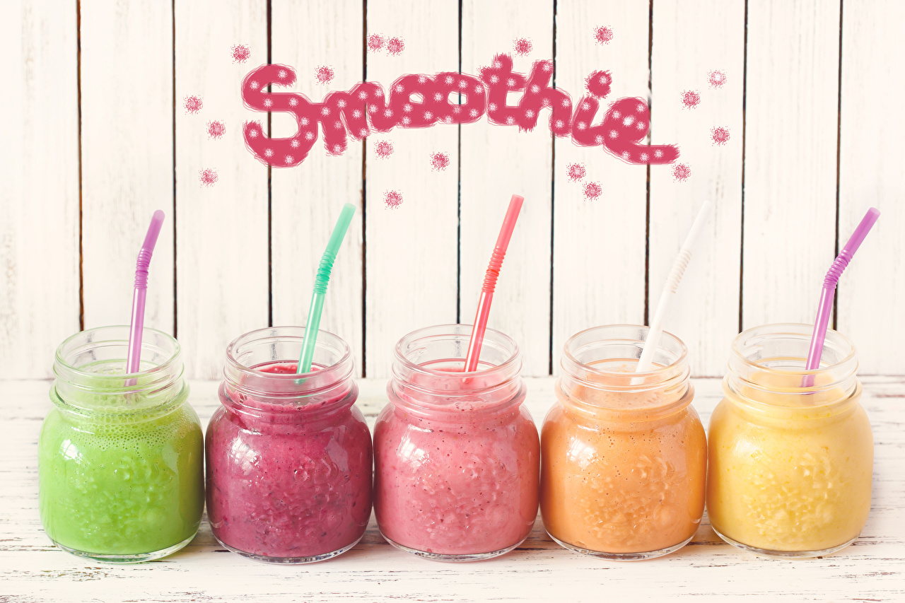 Wallpaper English smoothy Multicolor Jar Word - Lettering Food Smoothie text lettering