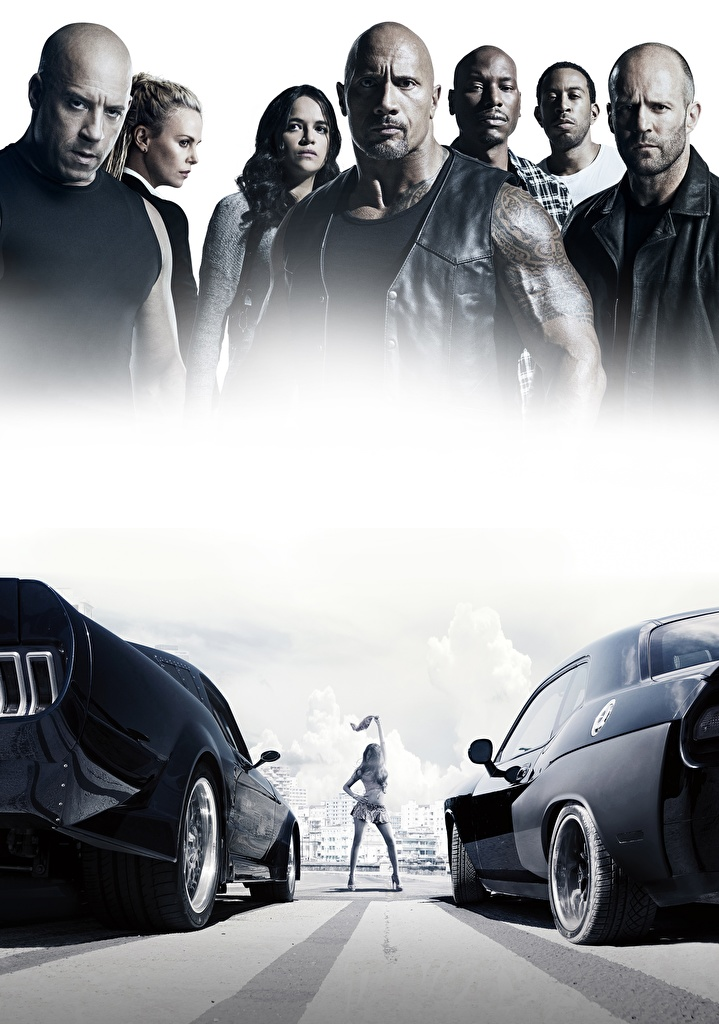 Wallpaper The Fate of the Furious Vin Diesel Jason Statham Dwayne Johnson Michelle Rodriguez Man Movies Celebrities  for Mobile phone Fast & Furious 8 Men film