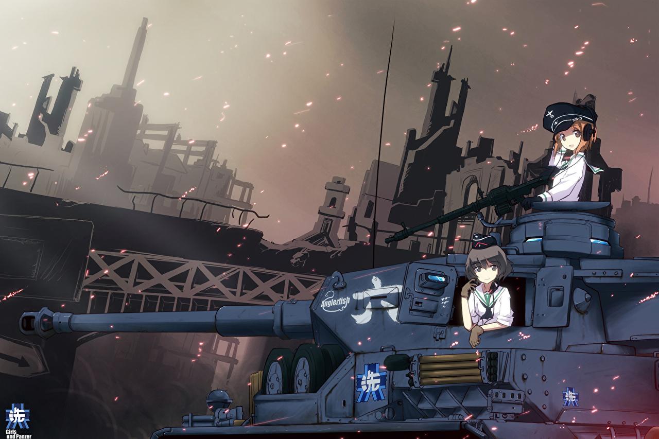 壁紙 ガールズ パンツァー 戦車 描かれた壁紙 アニメ