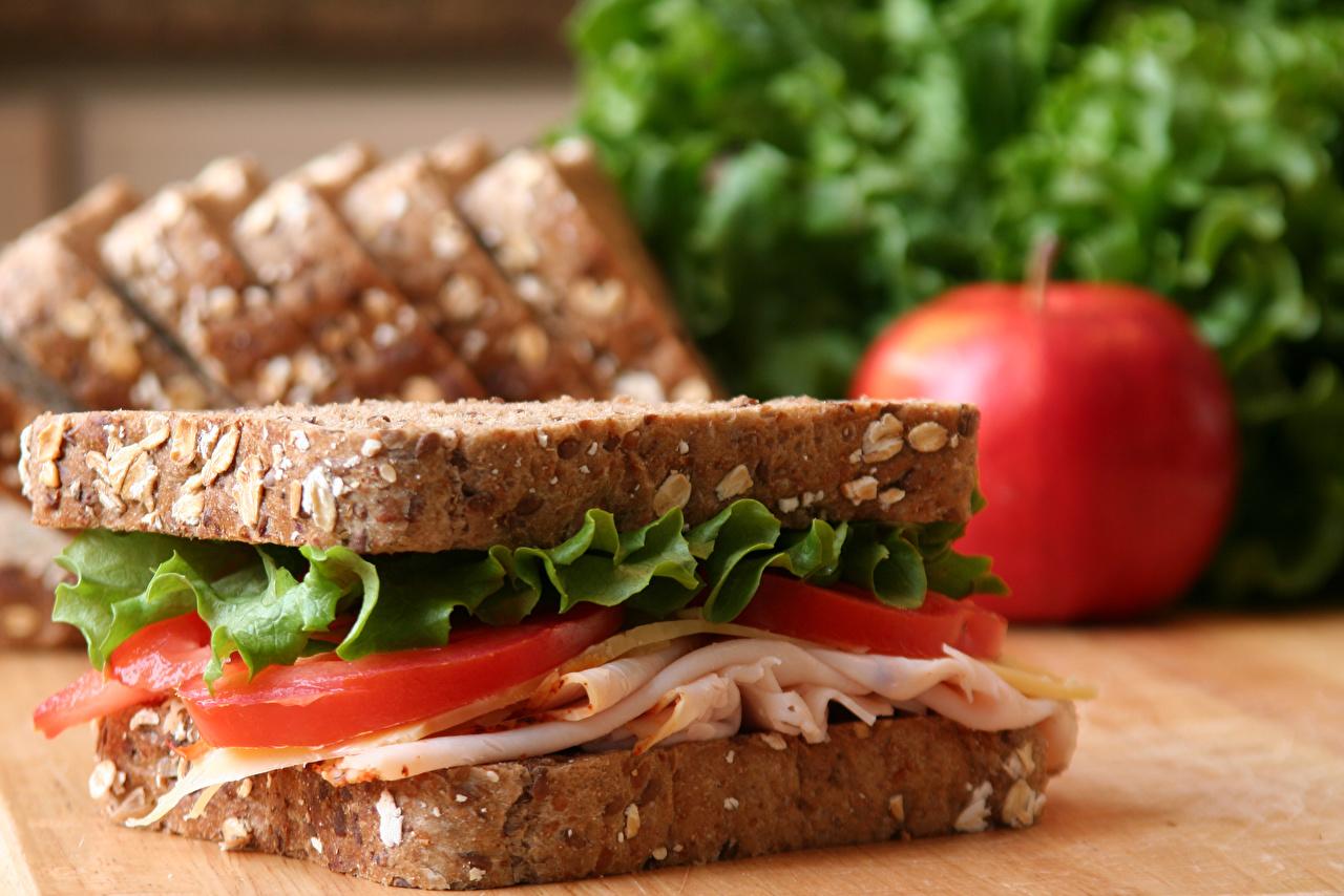 Foto Pomodori Sandwich Pane Butterbrot Prosciutto Cibo Da vicino alimento