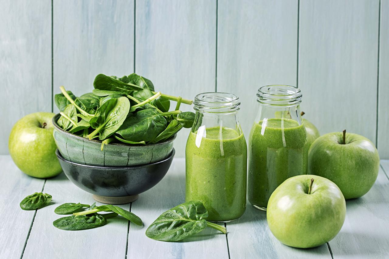 Wallpaper Juice Apples Food Bottle Vegetables boards bottles Wood planks