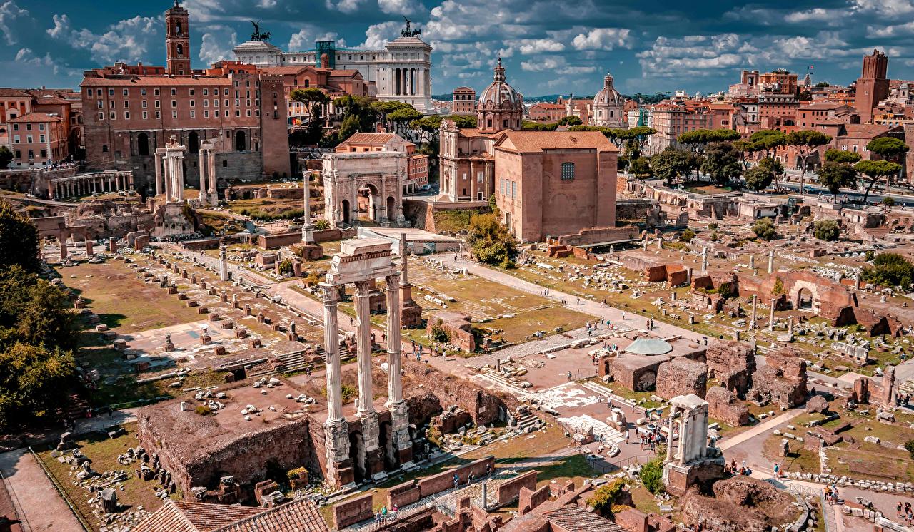 Fotos Rom Italien Palatine Hill Ruinen Haus Städte Berühmte Gebäude Gebäude