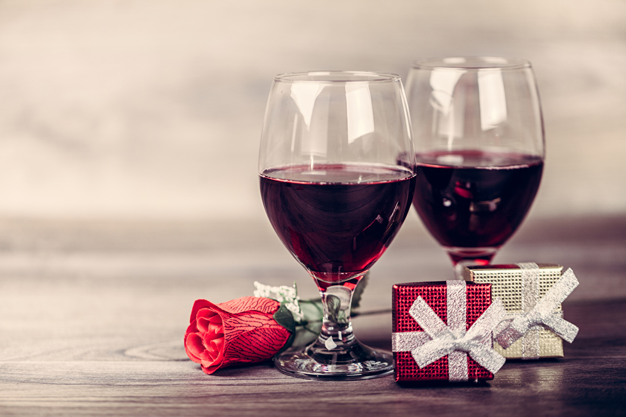Images Two Wine Roses Flowers present Food Stemware Holidays 2 Gifts