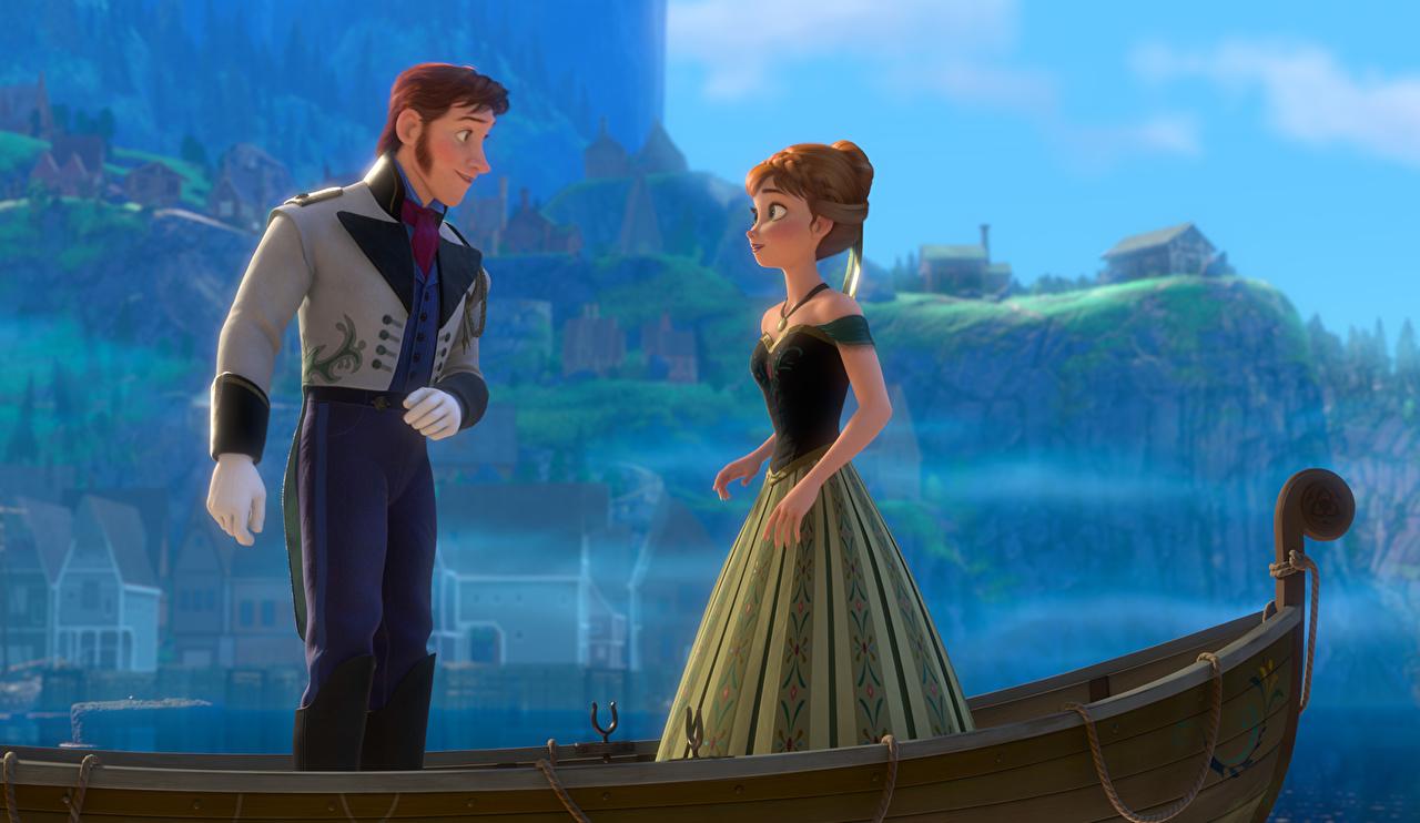 壁紙 アナと雪の女王 ボート 男性 ドレス 漫画 ダウンロード 写真