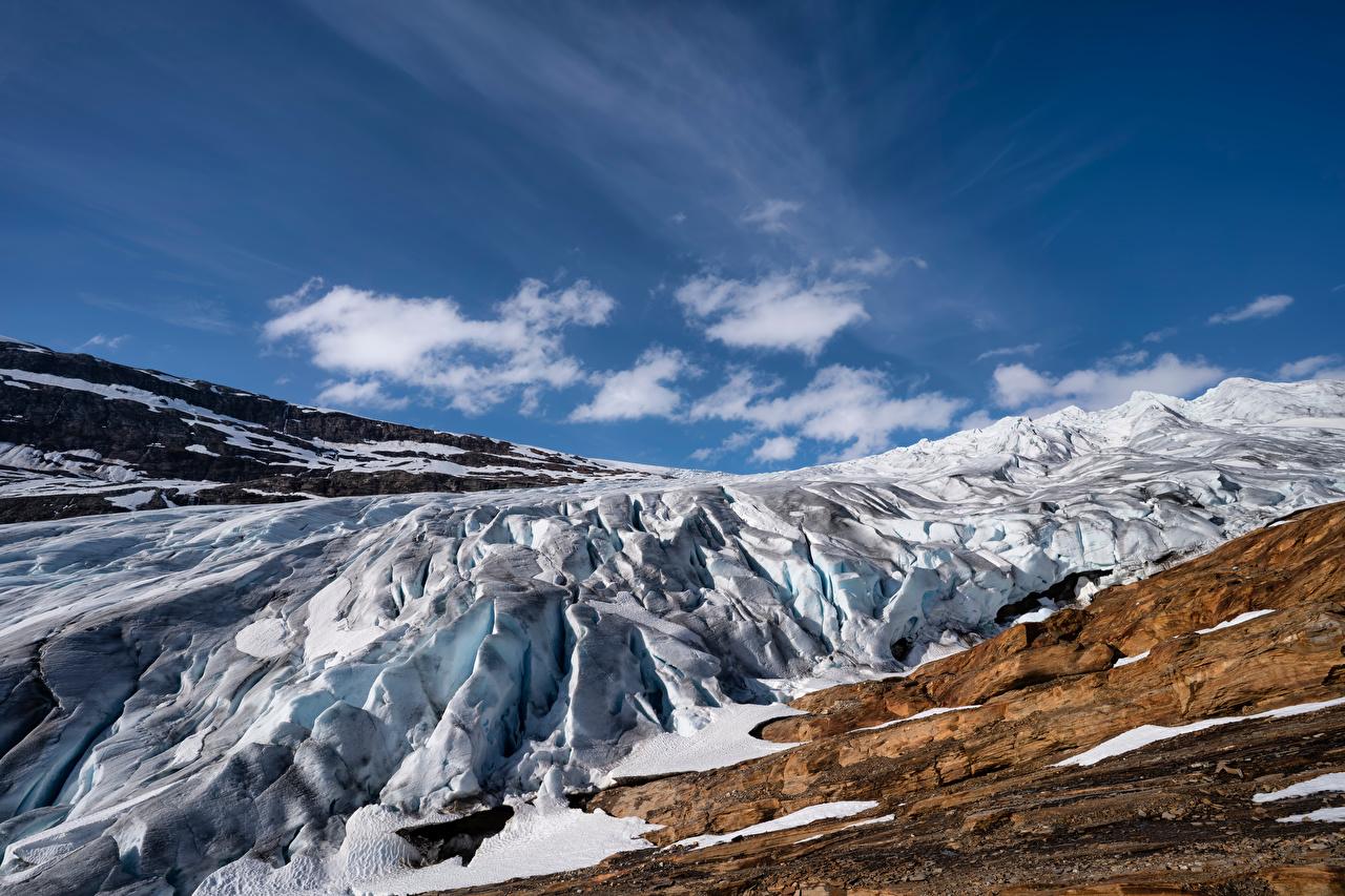 Wallpaper Norway Svartisen Glacier Ice Crag Nature mountain Sky Rock Cliff Mountains