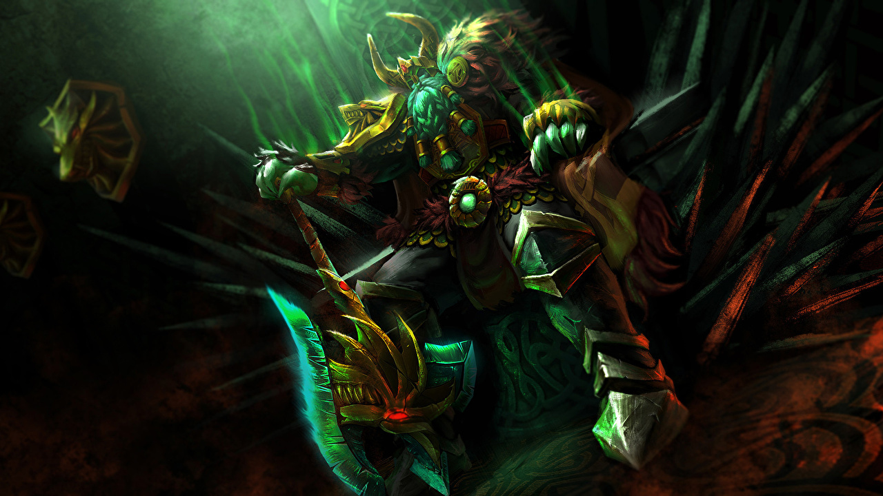 Photo DOTA 2 Wraith King Undead warrior Throne Fantasy Games