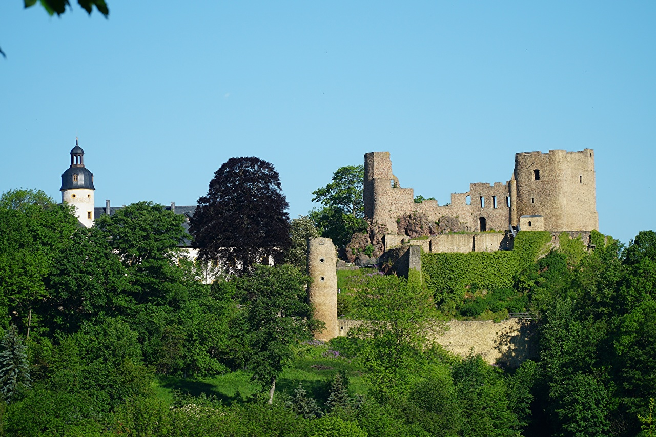 Bilder Festung Deutschland Frauenstein, Saxony, Eastern Ore Mountains Burg Ruinen Städte