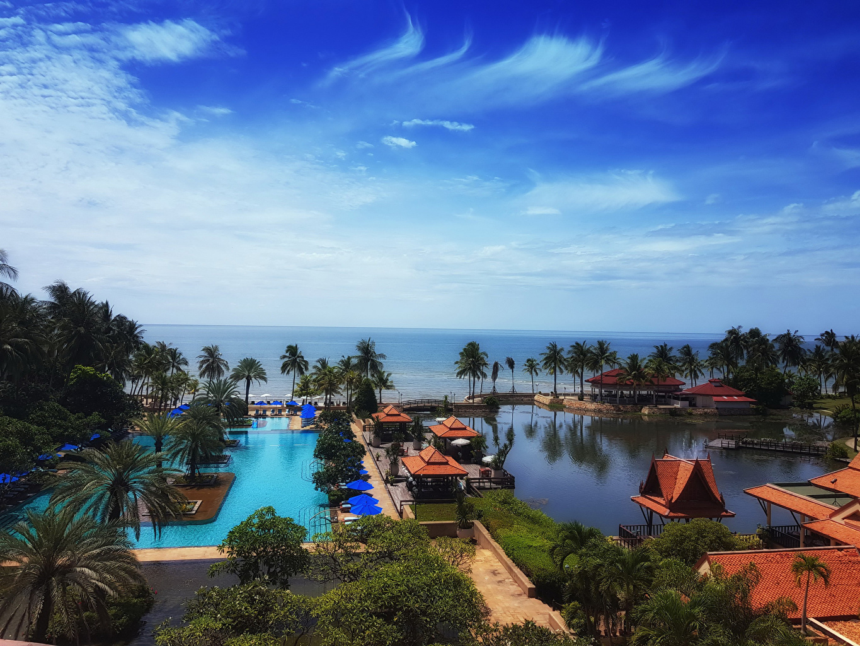 Pictures Thailand Resorts Swimming bath Cha-am Phetchaburi Nature Palms Tropics Coast Pools Spa town palm trees