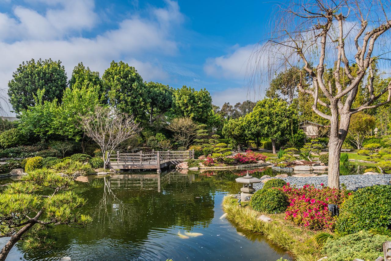 Desktop Wallpapers Usa Earl Burns Miller Japanese Garden Long Beach