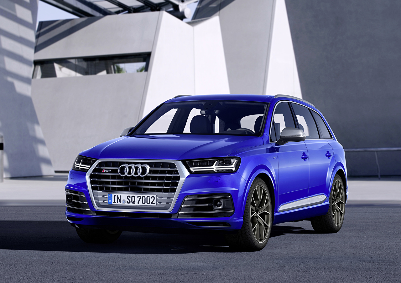 Pictures Audi 2016 SQ7 TDI Blue Cars auto automobile