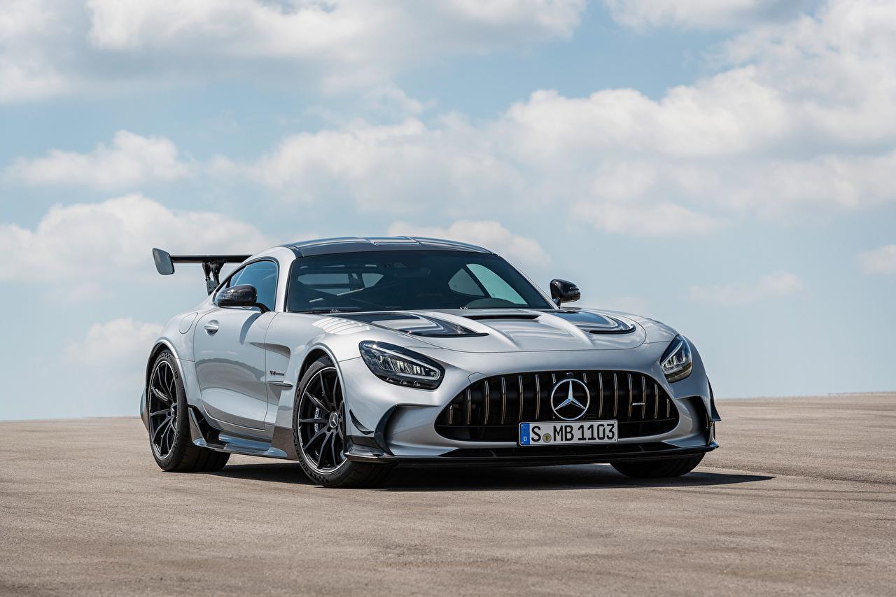 Fotos Mercedes-Benz GT Black Series, Worldwide, C190, 2020 Coupe Silber Farbe automobil Metallisch auto Autos