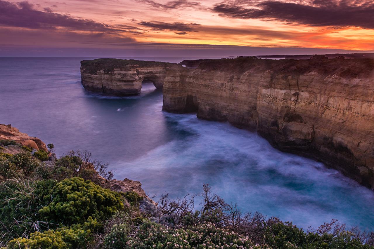 Desktop Wallpapers Australia Great Ocean Road Victoria Crag
