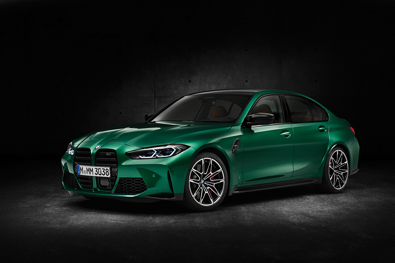 Picture BMW M3 Competition, (G80), 2020 Green Cars Metallic auto automobile