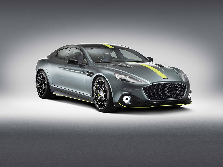 Fotos von Aston Martin Rapide AMR Worldwide graue Strips automobil Grau graues auto Autos
