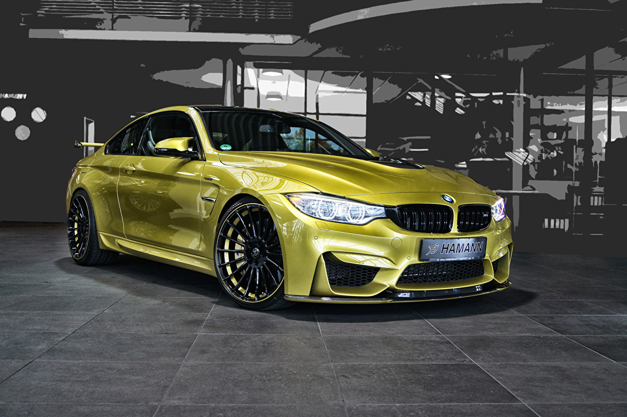 Picture Bmw 2014 Haann M4 F82 Gold Color Cars