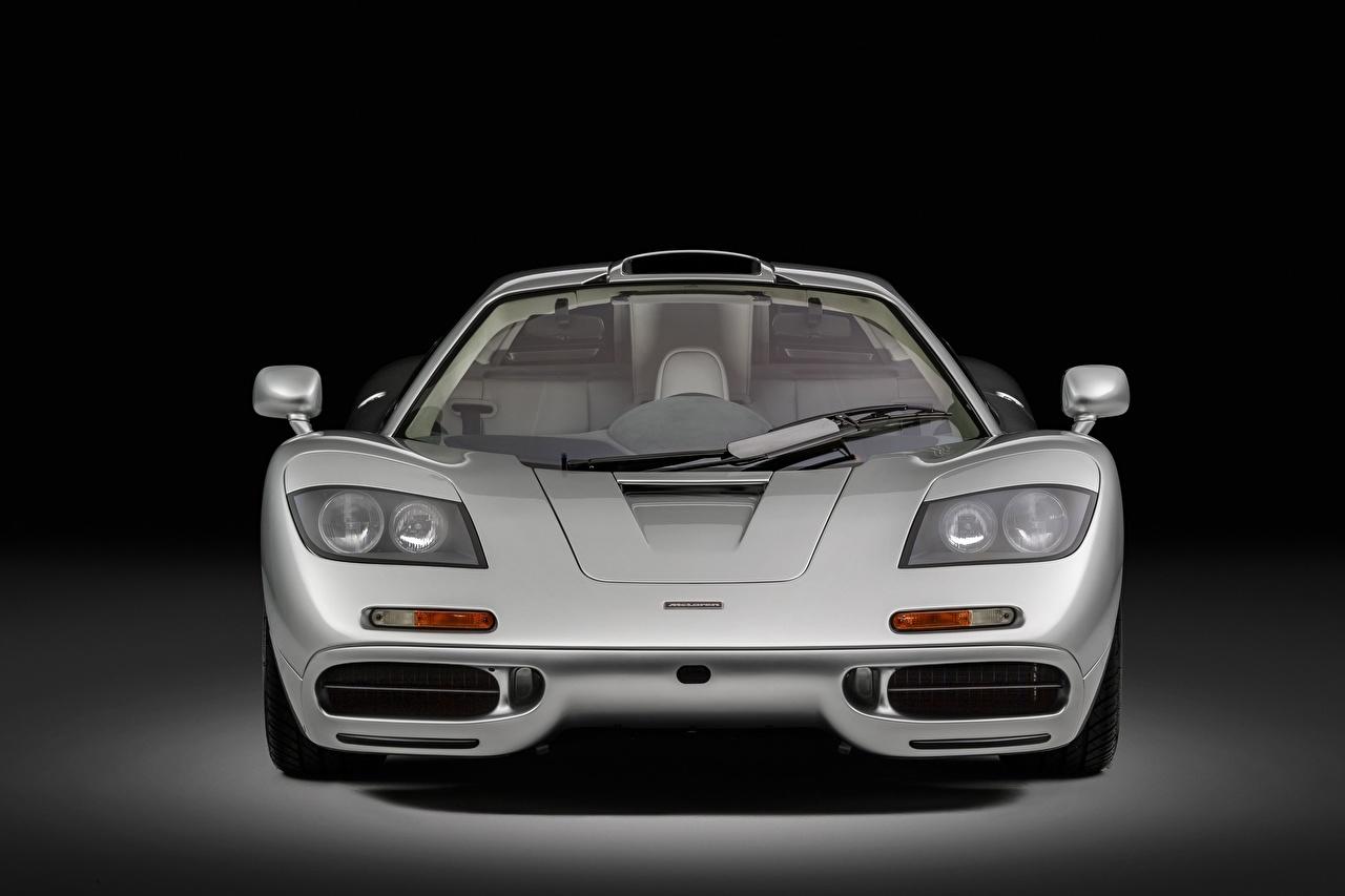 Pictures McLaren F1, Sports car, 1993 Silver color Cars Front Metallic auto automobile