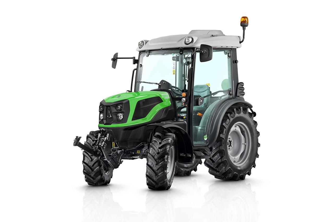 Achtergronden tractoren Deutz-Fahr 3060, 2020 Witte achtergrond Tractor