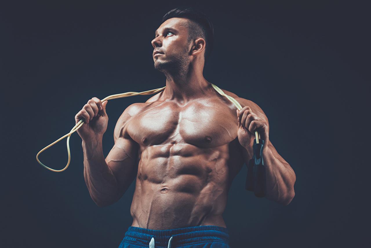 Foto Mann Muskeln Sport Bodybuilding Hand