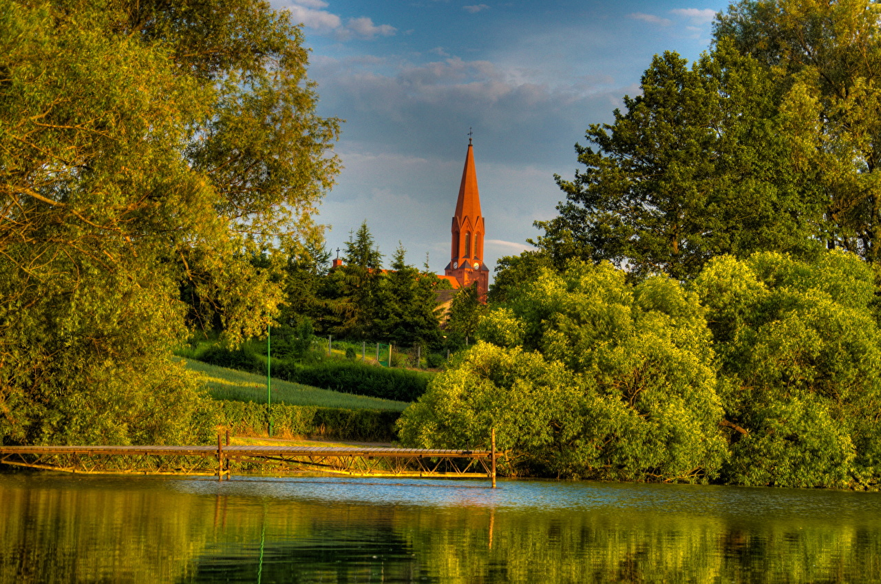 Wallpaper Poland Gmina Cekcyn Nature landscape photography Rivers Scenery river
