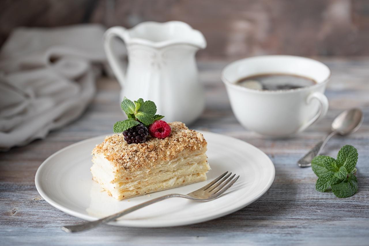 Desktop Wallpapers Coffee Fork Food Berry Plate Little cakes