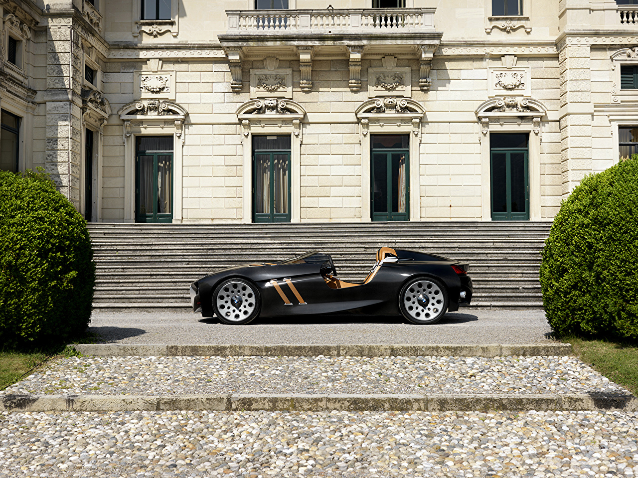 Pictures BMW 328 Hommage Black Side automobile Cars auto