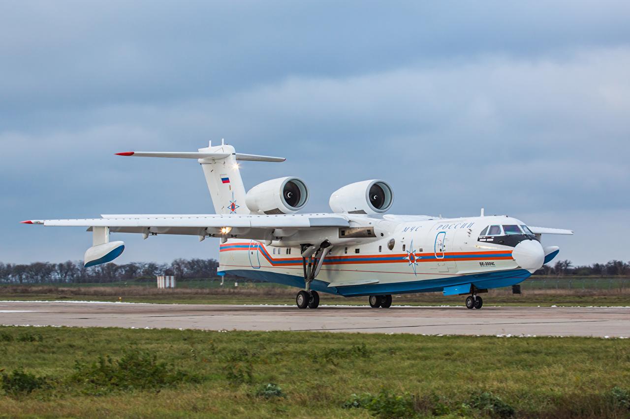 Fotos von Flugzeuge Russische Wasserflugzeug Be-200CHS Luftfahrt russisches russischer