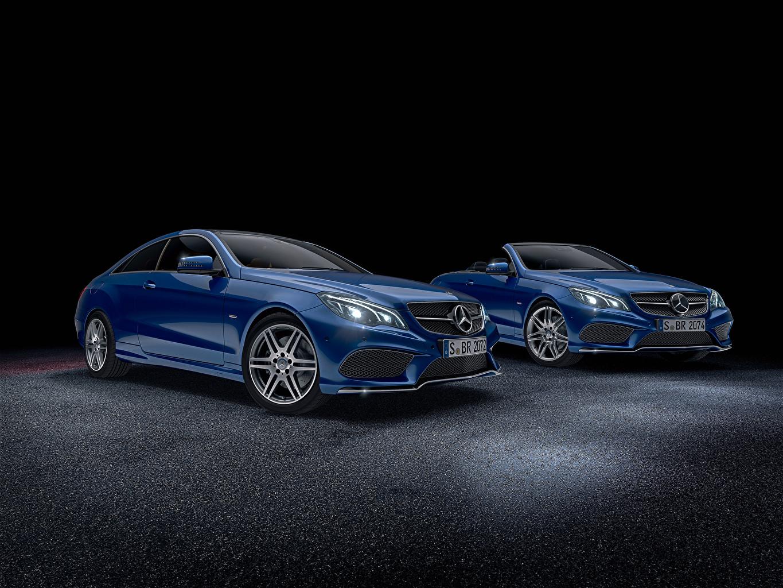 Picture Mercedes-Benz W207 E-Class W212 Sedan Cabriolet Blue automobile Convertible Cars auto
