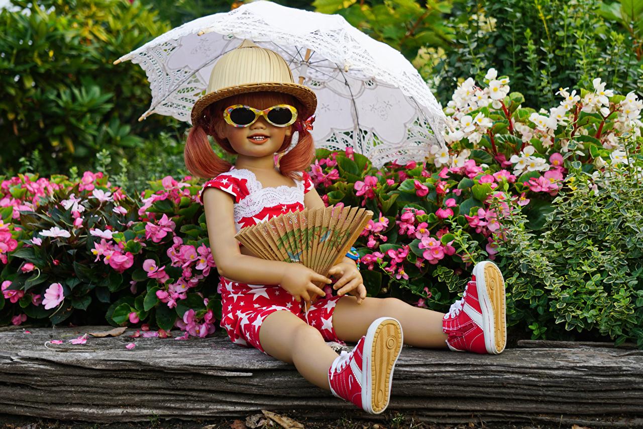 Bilder Kleine Mädchen Deutschland Puppe Grugapark Essen Natur Der Hut Parks Brille Regenschirm Park