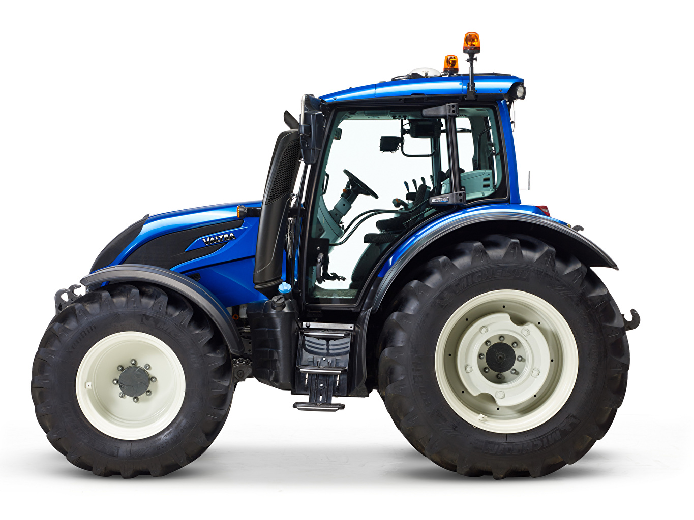 Picture Tractor Valtra N174, 2015 Blue Side White background tractors