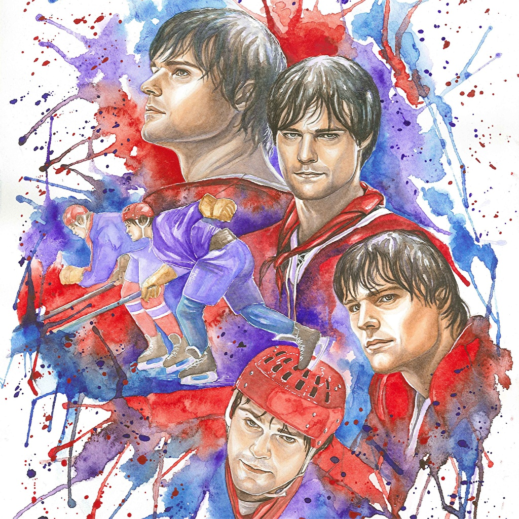 Photo Men Legenda No. 17 (2013), Danila Kozlovsky Movies Hockey Painting Art Man