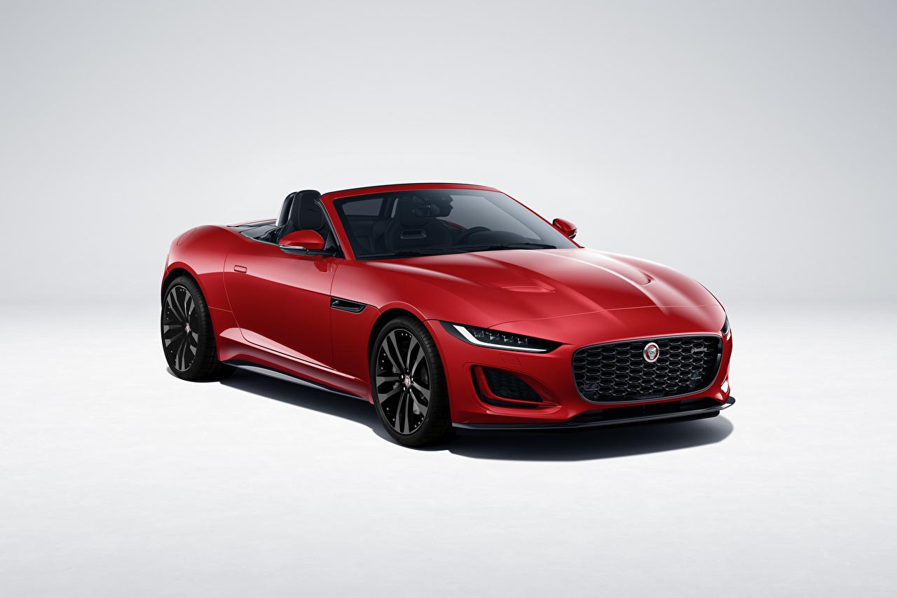 Bilder von Jaguar F-Type R-Dynamic Black Convertible, Worldwide, 2021 Cabriolet Rot automobil Metallisch Cabrio auto Autos