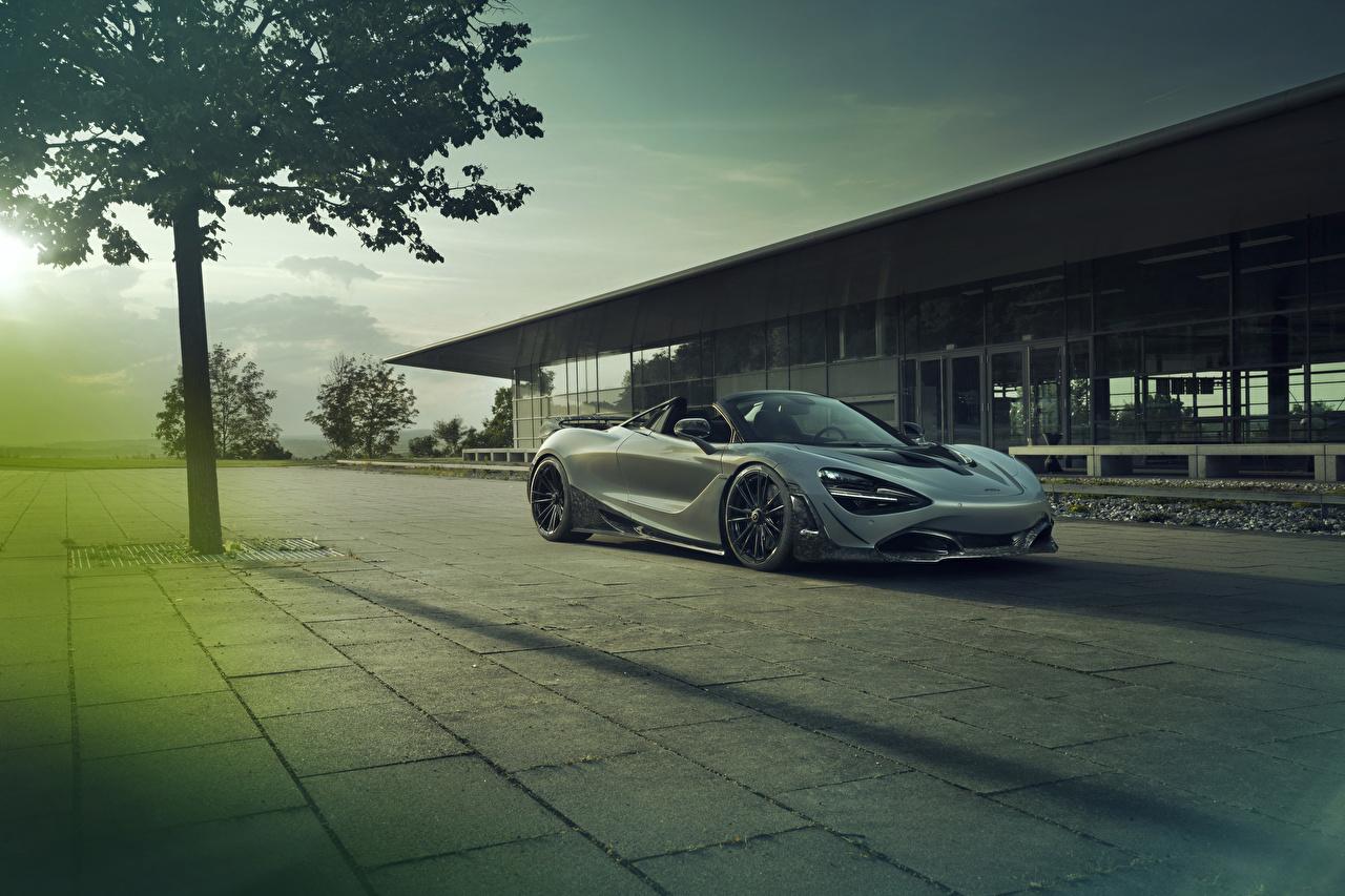 Desktop Wallpapers McLaren 2019-21 Novitec 720S Spider Roadster Grey Cars gray auto automobile