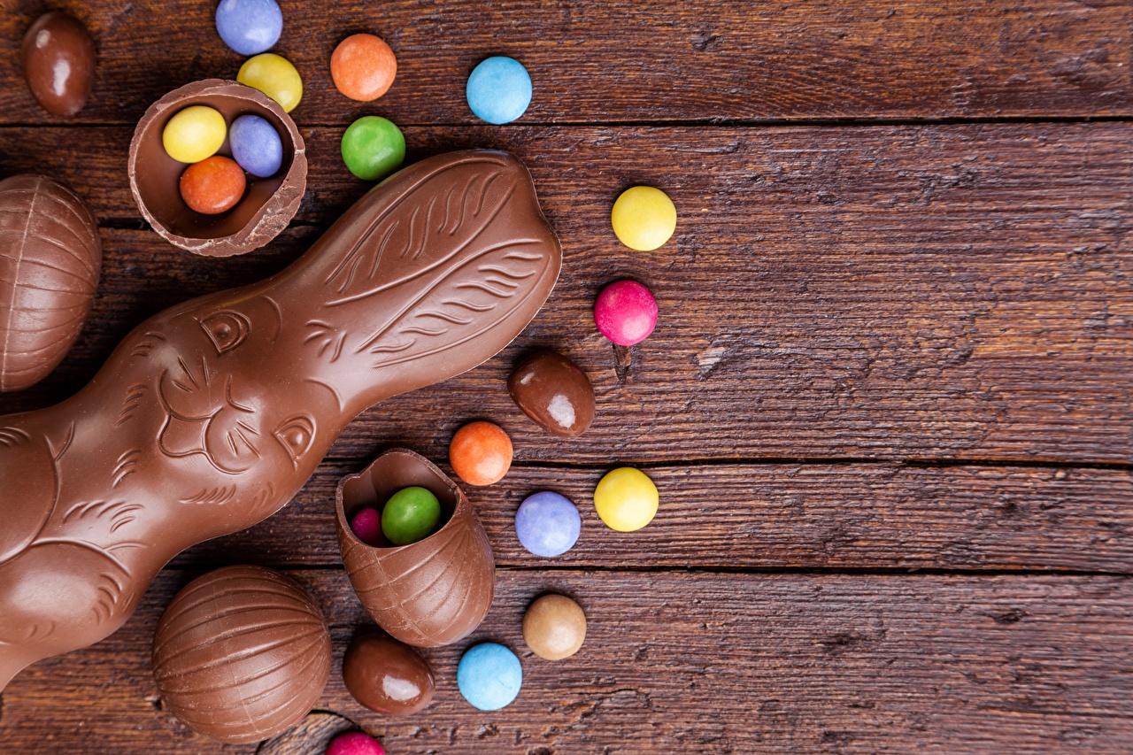 Fotos Ostern Hasen Dragee Schokolade Lebensmittel Vorlage Grußkarte das Essen